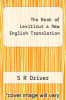 cover of The Book of Leviticus a New English Translation