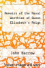 cover of Memoirs of the Naval Worthies of Queen Elizabeth`s Reign