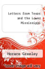 cover of Letters from Texas and the Lower Mississippi
