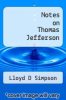 cover of Notes on Thomas Jefferson