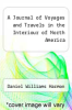 cover of A Journal of Voyages and Travels in the Interiour of North America
