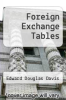 cover of Foreign Exchange Tables