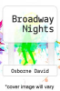 cover of Broadway Nights