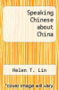 cover of Speaking Chinese about China