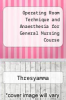cover of Operating Room Technique and Anaesthesia for General Nursing Course (2nd edition)