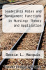 cover of Leadership Roles and Management Functions in Nursing: Theory and Application (7th edition)