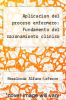 cover of Aplicacion del proceso enfermero: Fundamento del razonamiento clinico (8th edition)