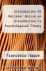 cover of Introduccion Al Autismo/ Autism an Introduction to Psychological Theory