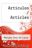 cover of Articulos / Articles (6th edition)