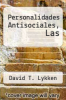 cover of Personalidades Antisociales, Las