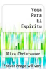 cover of Yoga Para El Espiritu