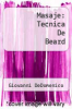 cover of Masaje: Tecnica De Beard (4th edition)