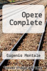 cover of Opere Complete