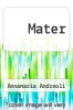 cover of Mater