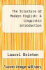 cover of The Structure of Modern English: A linguistic introduction