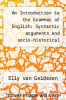 cover of An Introduction to the Grammar of English: Syntactic arguments and socio-historical background