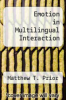 cover of Emotion in Multilingual Interaction
