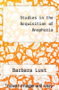cover of Studies in the Acquisition of Anaphoria