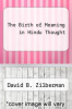 cover of The Birth of Meaning in Hindu Thought
