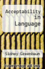 cover of Acceptability in Language
