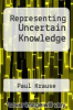 cover of Representing Uncertain Knowledge