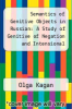 cover of Semantics of Genitive Objects in Russian: A Study of Genitive of Negation and Intensional Genitive Case