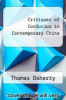 cover of Critiques of Confucius in Contemporary China