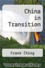 cover of China in Transition