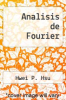 cover of Analisis de Fourier