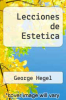 cover of Lecciones de Estetica