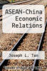 cover of ASEAN-China Economic Relations