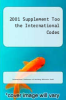 cover of 2001 Supplement Too the International Codes