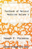 cover of Textbook of Natural Medicine Volume 1 (3rd edition)